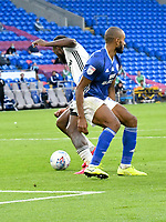 Football - 2019 / 2020 Championship - Play-off semi-final - 1st leg - Cardiff City vs Fulham<br /> <br /> Josh Onomah of Fulham scores his team's first goal<br /> in a match played with no crowd due to Covid 19 coronavirus emergency regulations, in an almost empty ground, at the Cardiff City Stadium<br /> <br /> COLORSPORT/WINSTON BYNORTH