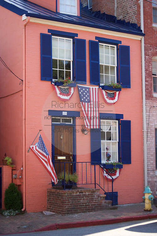 Historic townhouse in downtown Annapolis, Maryland.