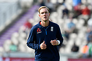 Stuart Broad of England warming up before the first day of the 4th SpecSavers International Test Match 2018 match between England and India at the Ageas Bowl, Southampton, United Kingdom on 30 August 2018.