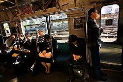 Japan, Tokyo.<br /> The subway.<br /> &copy;Carmen Secanella.