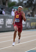 May24, 2018; Sacramento, CA, USA; Michael Norman of Southern California wins 400m heat in 46.36 during the NCAA West Preliminary at Hornet Stadium.