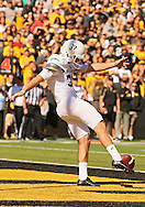 September 21 2013: Western Michigan Broncos punter J. Schroeder (37) punts the ball from his own end zone during the first quarter of the NCAA football game between the Western Michigan Broncos and the Iowa Hawkeyes at Kinnick Stadium in Iowa City, Iowa on September 21, 2013. Iowa defeated Western Michigan 59-3.