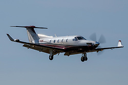 Pilatus PC-12/45 (N774DK) on approach to Palo Alto Airport (KPAO), Palo Alto, California, United States of America