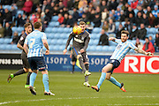 Bury Striker Tom Pope during the Sky Bet League 1 match between Coventry City and Bury at the Ricoh Arena, Coventry, England on 13 February 2016. Photo by Dennis Goodwin.