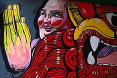 Murals, Chinatown, Bangkok, Thailand
