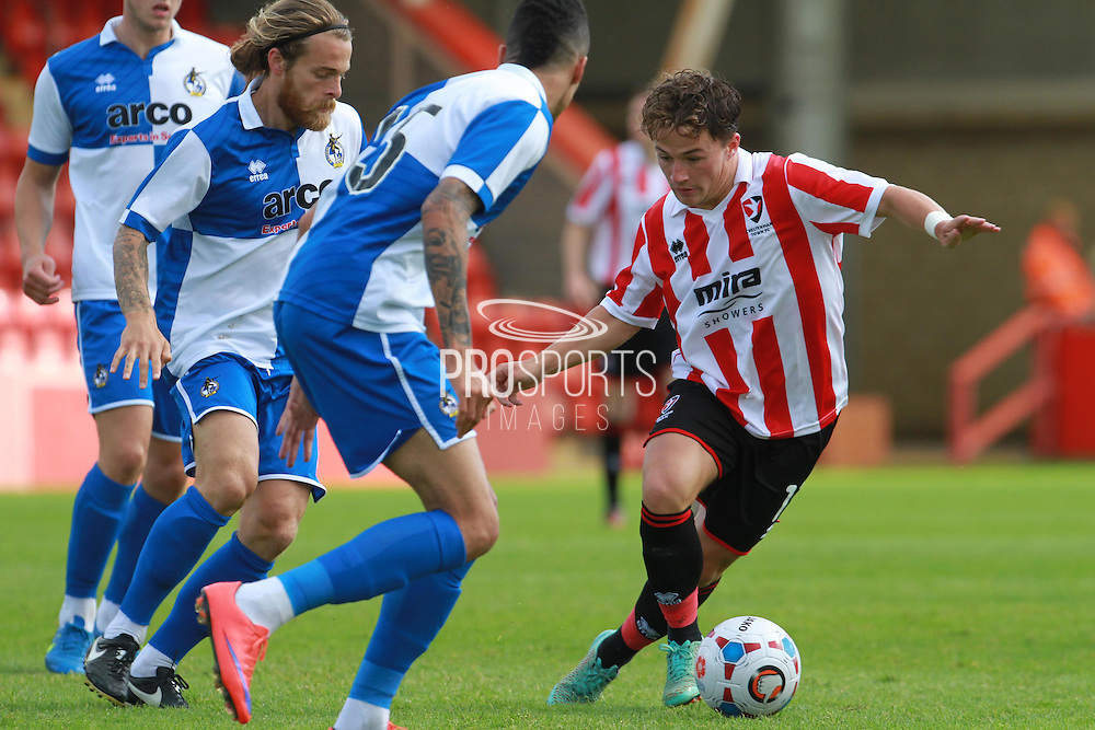 Jack Munns during the Pre-Season Friendly match between Cheltenham Town and Bristol Rovers at Whaddon Road, Cheltenham, England on 25 July 2015. Photo by Antony Thompson.