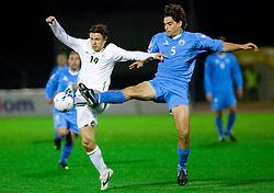 Zlatko Dedic of Slovenia vs Davide Simoncini of RSM  at the last 2010 FIFA World Cup South Africa Qualifying match in Group 3 between San Marino and Slovenia, on October 14, 2009, in Olimpico Stadium, Serravalle, San Marino. Slovenia won 3:0. (Photo by Vid Ponikvar / Sportida)