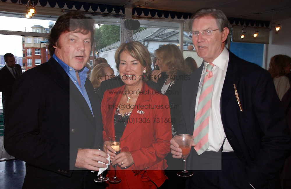 Left to right, RUPERT ALLASON and BILL CASH MP and his wife BIDDY at a party hosted by Sonia &amp; Andrew Sinclair at The Westminster Boating Base, 136 Grosvenor Road, London SW1 on 5th June 2006.<br /><br />NON EXCLUSIVE - WORLD RIGHTS