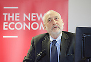 Joseph Stiglitz lecture.<br /> &ldquo;The New Economics&rdquo; - John McDonnell lecture with Joseph Stiglitz at Birkbeck College, London, Great Britain <br /> 2nd March 2016 <br />  <br /> John McDonnell, Labour&rsquo;s Shadow Chancellor, will introduce a speech from Nobel Prize winning economist, Joseph Stiglitz, on: &lsquo;Rewriting the rules of the market economy to achieve shared prosperity&rsquo;. This lecture is part of a series of public events to broaden the debate around economics in Britain.<br /> <br /> <br /> <br /> Photograph by Elliott Franks <br /> Image licensed to Elliott Franks Photography Services