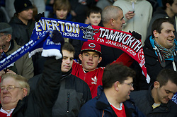 LIVERPOOL, ENGLAND - Saturday, January 7, 2012: Tamworth supporters before the FA Cup 3rd Round match against Everton at Goodison Park. (Pic by David Rawcliffe/Propaganda)