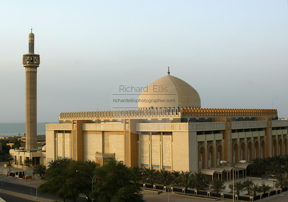 Grand Mosque in Kuwait City, Kuwait along the Persian Gulf of the Arabian Sea.