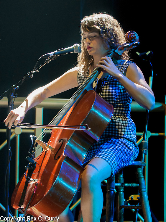 Neyla Pekarek of The Lumineers performs on the cello their show at Verizon Theater in Grand Prairie on Thursday, April, 25, 2013....(Rex C. Curry/Special Contributor)