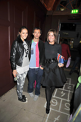 Left to right, SASHA VOLKOVA, DAN MACMILLAN and TARA PALMER-TOMKINSON  at a reception to celebrate the launch of Liberatum's Russian Anglo Arts Festival (Anglomockba)  held at Sketch, London on 27th April 2009.