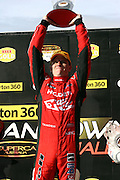 Garth Tander of the Holden Racing Team after winning the Norton 360 Sandown Challenge held at the Sandown International Motor Raceway, Victoria on Sunday 2nd August. 2009 V8 Supercar Series Rounds 13 and 14. Photo © Clay Cross/PHOTOSPORT