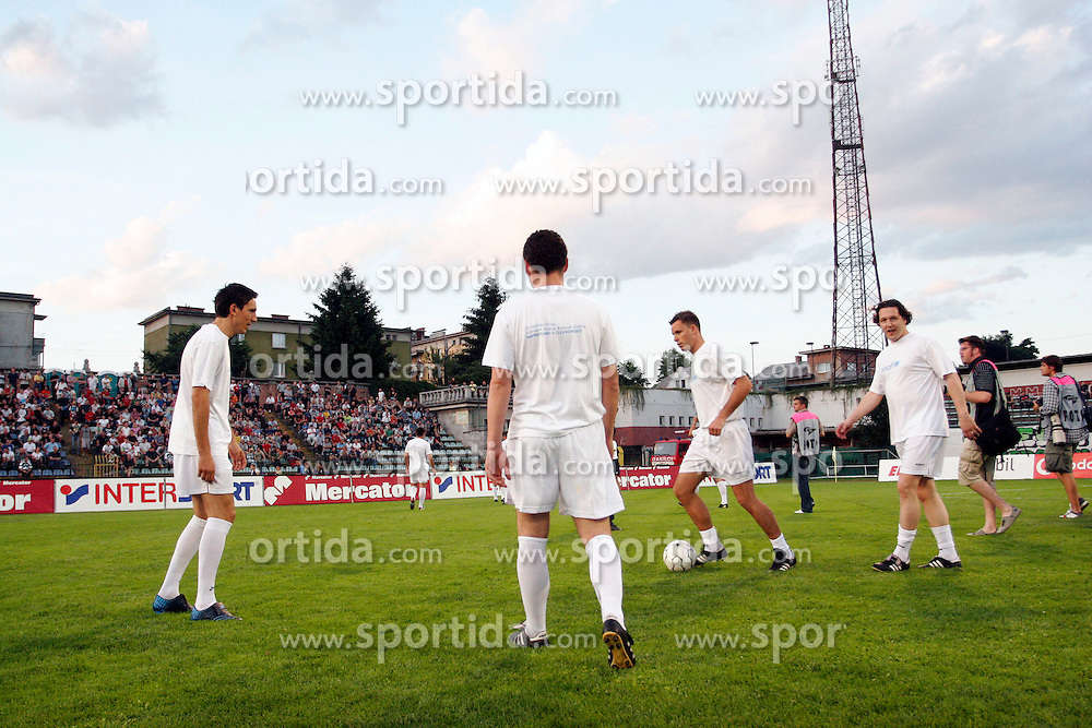 """The last game of Slovenian """"golden team"""" at Bezigrad stadion for football made by Joze Plecnik in year 1935, before rebuilded in 2008. The match was held on June 18, 2005. (Photo by Vid Ponikvar / Sportal Images).."""