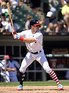 CHICAGO - JULY 02:  Adam Engel #41 of the Chicago White Sox bats against the Texas Rangers on July 2, 2017 at Guaranteed Rate Field in Chicago, Illinois.  The White Sox defeated the Rangers 6-5.  (Photo by Ron Vesely) Subject:   Adam Engel