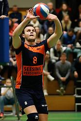 20170125 NED: Beker, Sliedrecht Sport - Seesing Personeel Orion: Sliedrecht<br />Freek de Weijer (8) of Seesing Personeel - Orion<br />&copy;2017-FotoHoogendoorn.nl / Pim Waslander