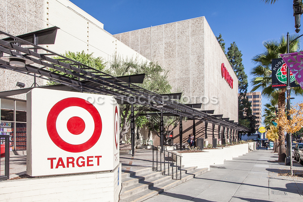 Target Shoppers on Colorado Boulevard in Pasadena California