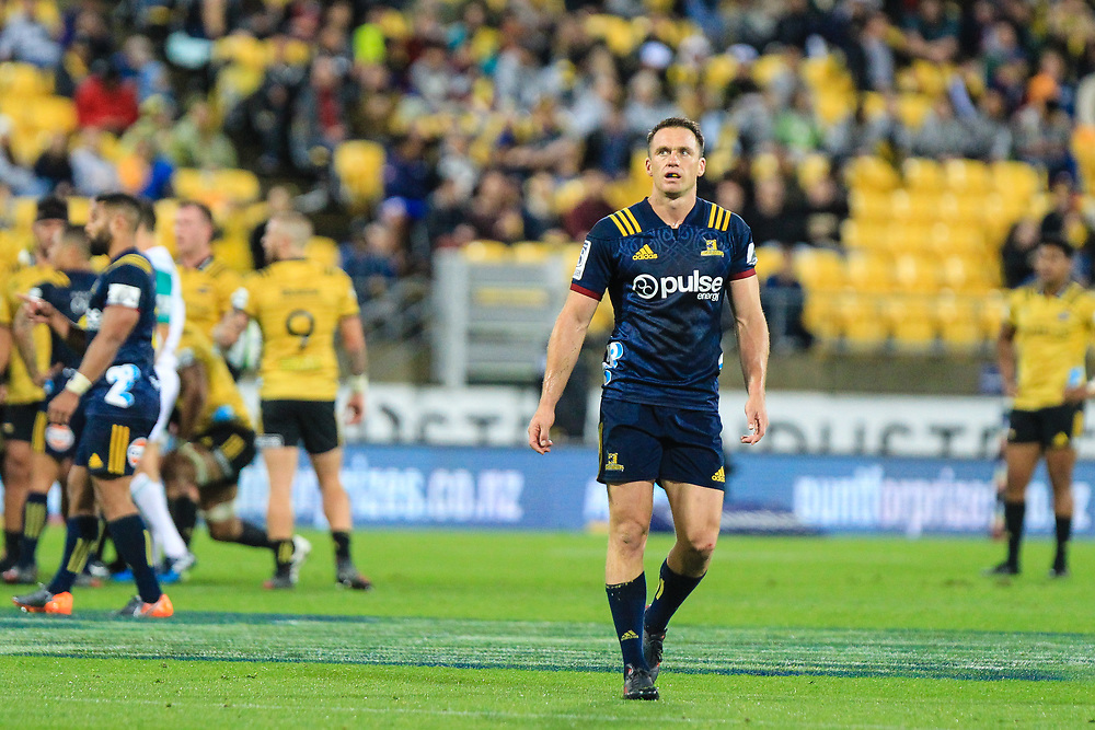 Ben Smith (CC) during the super rugby union  game between Hurricanes  and Highlanders, played at Westpac Stadium, Wellington, New Zealand on 24 March 2018.  Hurricanes won 29-12.