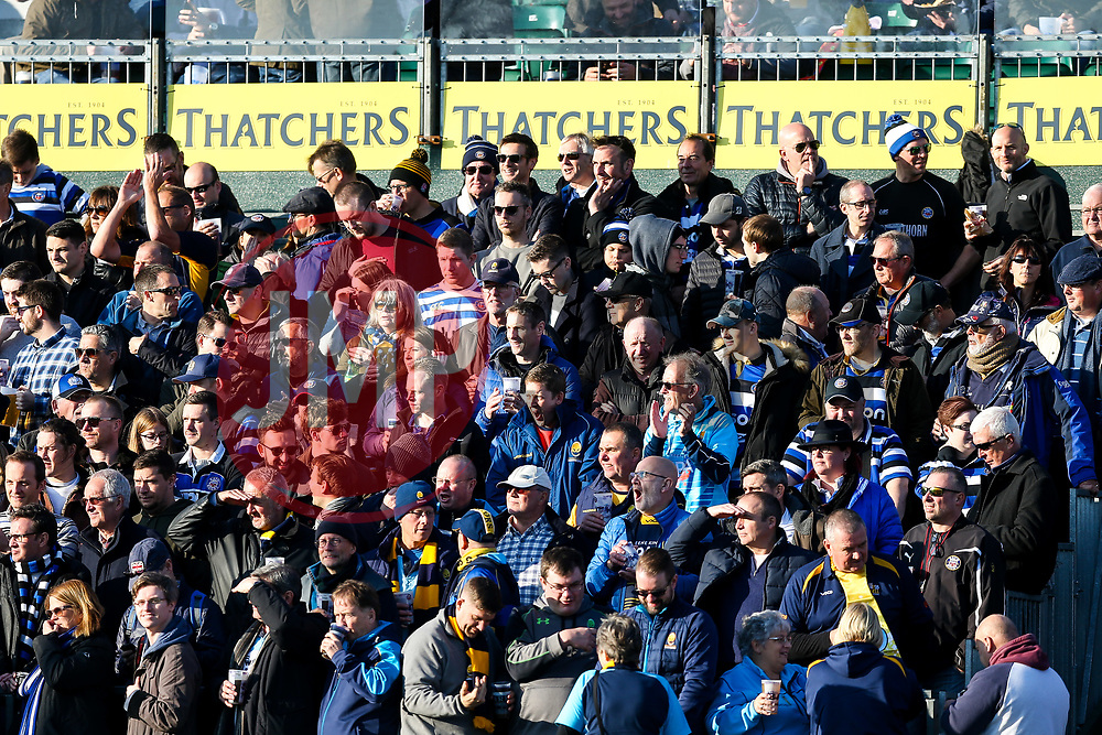 Worcester Warriors fans - Rogan/JMP - 17/11/2018 - RUGBY UNION - The Recreation Ground - Bath, England - Bath Rugby v Worcester Warriors - Gallagher Premiership.