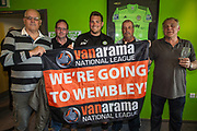 Forest Green Rovers ground staff during the Vanarama National League Play Off second leg match between Forest Green Rovers and Dagenham and Redbridge at the New Lawn, Forest Green, United Kingdom on 7 May 2017. Photo by Shane Healey.