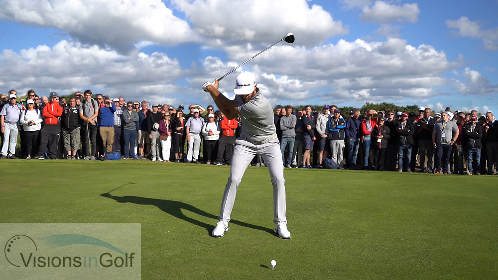 Dustin Johnson<br /> High Speed Swing Sequence<br /> Face On driver<br /> July 2017<br /> Picture Credit: Mark Newcombe/visionsingolf.com
