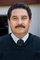 Court judge outdoors, portrait