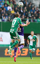 09.11.2014, Ernst Happel Stadion, Wien, AUT, 1. FBL, SK Rapid Wien vs FK Austria Wien, 15. Runde, im Bild Christopher Dibon (SK Rapid Wien) und Omar Damari (FK Austria Wien) // during a Austrian Football Bundesliga Match, 15th Round, between SK Rapid Vienna and FK Austria Vienna at the Ernst Happel Stadion, Wien, Austria on 2014/11/09. EXPA Pictures © 2014, PhotoCredit: EXPA/ Alexander Forst