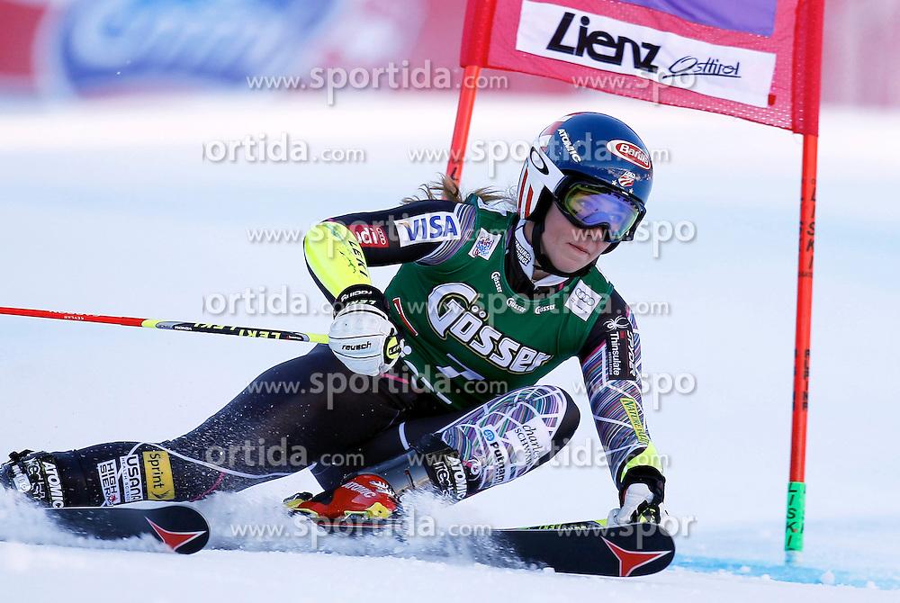 28.12.2013, Hochstein, Lienz, AUT, FIS Weltcup Ski Alpin, Damen, Riesenslalom 2. Durchgang, im Bild Mikaela Shiffrin (USA) // Mikaela Shiffrin of (USA) during ladies Giant Slalom 2 nd run of FIS Ski Alpine Worldcup at Hochstein in Lienz, Austria on 2013/12/28. EXPA Pictures © 2013, PhotoCredit: EXPA/ Oskar Höher