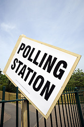 ©  licensed to London News Pictures. .London, UK.05/05/2011.Polling Station Sign,South East ,London..Please see special instructions..Picture credit should read Grant Falvey/LNP......