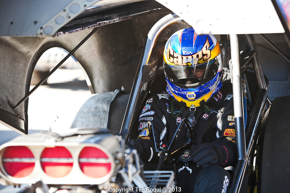 Funny Car driver Ron Capps..The 2013 March Meet at the Auto Club Famoso Raceway in McFarland, CA.