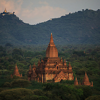 Sunset view of ancient temples from Bagan, Myanmar, 2015
