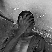 A former teacher who lost his mind on cocaine at a privately run shelter for the mentally ill located in the desert west of Ciudad Juarez, Mexico..(Credit Image: © Louie Palu/ZUMA Press)