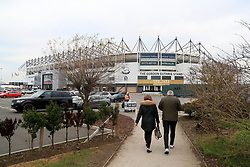 A general view of Pride Park prior to match action at the Emirates FA Cup, third round match at Pride Park, Derby.