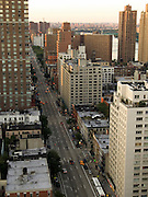 looking out over First Avenue 85th street and up New York City