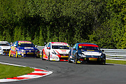 Jason Plato leads to complete another race win during the Dunlop MSA British Touring Car Championship at Oulton Park, Budworth, Cheshire, United Kingdom on 7th June 2015. Photo by Aaron Lupton.