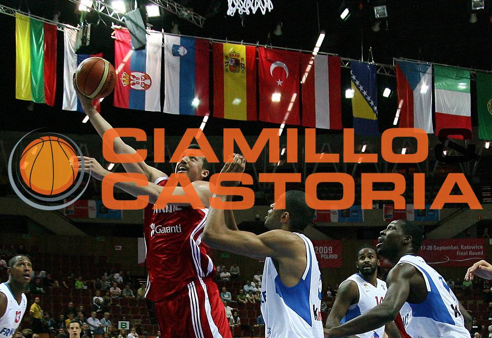 DESCRIZIONE : Katowice Poland Polonia Eurobasket Men 2009 Semifinal 5-8 place Francia France Turchia Turkey <br /> GIOCATORE : Hidayet T&uuml;rkoglu<br /> SQUADRA : Turchia Turkey<br /> EVENTO : Eurobasket Men 2009<br /> GARA : Francia France Turchia Turkey <br /> DATA : 19/09/2009 <br /> CATEGORIA :<br /> SPORT : Pallacanestro <br /> AUTORE : Agenzia Ciamillo-Castoria/A.Vlachos<br /> Galleria : Eurobasket Men 2009 <br /> Fotonotizia : Katowice  Poland Polonia Eurobasket Men 2009 Semifinal 5-8 place Francia France Turchia Turkey <br /> Predefinita :