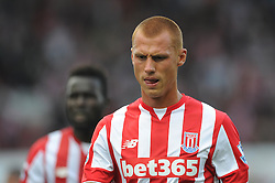 Steve Sidwell of Stoke City cuts a dejected figure - Mandatory byline: Dougie Allward/JMP - 07966386802 - 09/08/2015 - FOOTBALL - Britannia Stadium -Stoke-On-Trent,England - Stoke City v Liverpool - Barclays Premier League