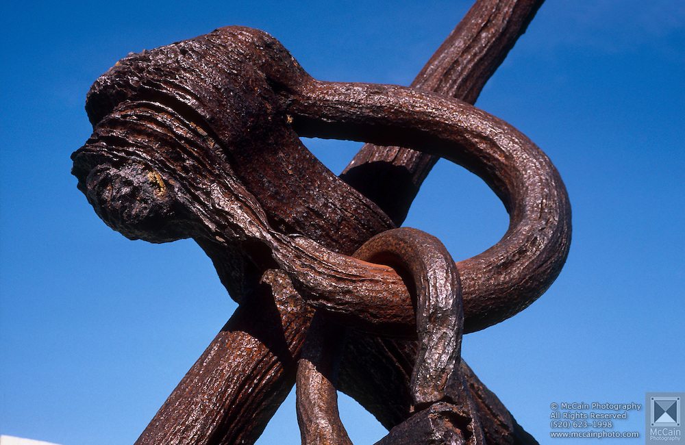 Close-up detail of heavy steel anchor by the wharf, San Francisco, California...Media Usage:.Subject photograph(s) are copyrighted Edward McCain. All rights are reserved except those specifically granted by McCain Photography in writing...McCain Photography.211 S 4th Avenue.Tucson, AZ 85701-2103.(520) 623-1998.mobile: (520) 990-0999.fax: (520) 623-1190.http://www.mccainphoto.com.edward@mccainphoto.com