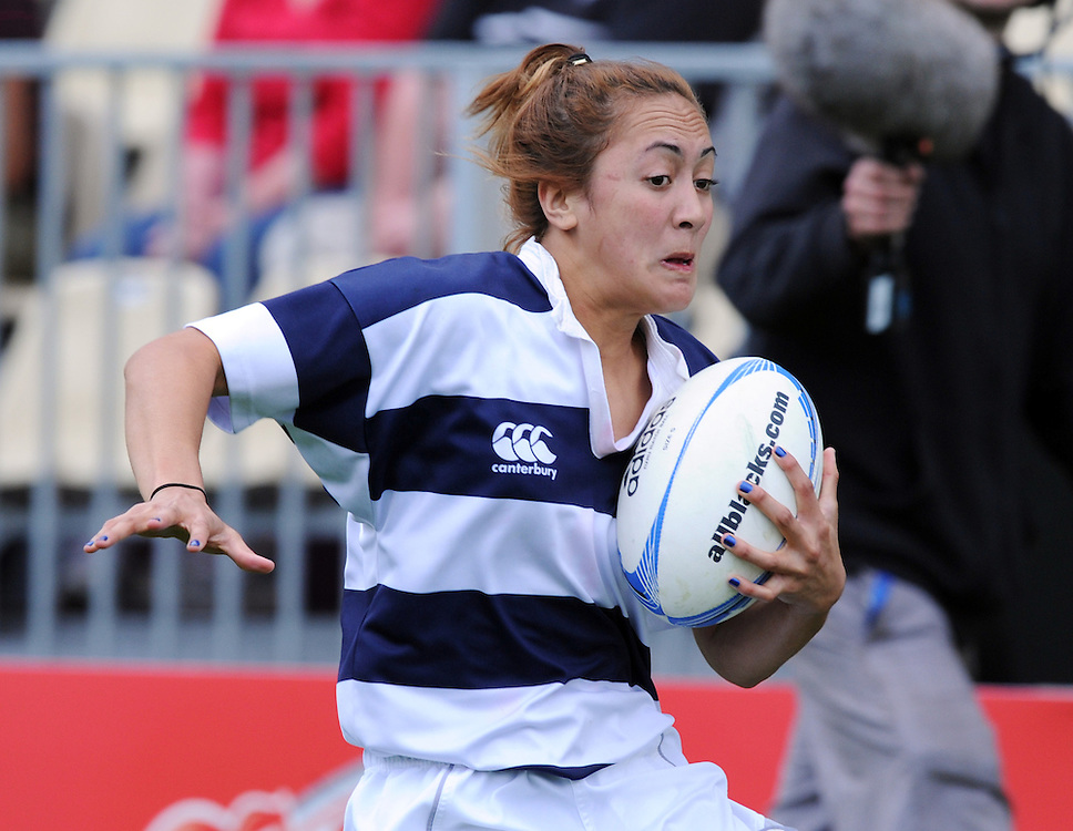 Auckland's Marama Davis against Canterbury in the ITM Cup Women's final rugby match, AMI Stadium, Christchurch, New Zealand, Saturday, October 27, 2012. Credit:SNPA / Ross Setford