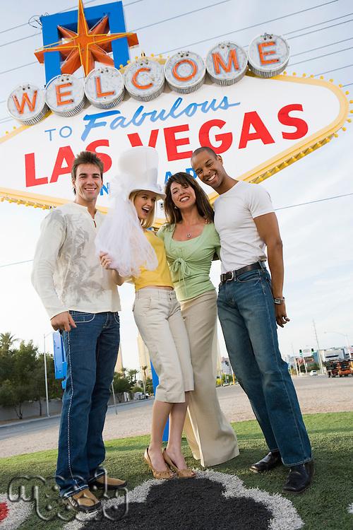 Couples having fun in Las Vegas, Nevada, USA