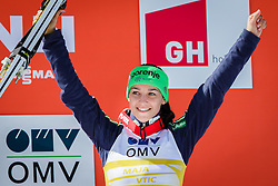 Overall World Cup third placed Maja Vtic (SLO) celebrates during final trophy ceremony after the Ski Flying Hill Team Competition at Day 4 of FIS Ski Jumping World Cup Final 2016, on March 20, 2016 in Planica, Slovenia. Photo by Ziga Zupan / Sportida