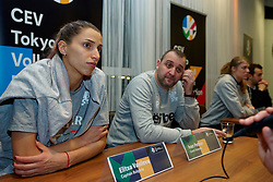 06–01-2020 NED: CEV Tokyo Volleyball European Qualification Women, Apeldoorn<br /> Press moment and representatives of the eight national teams for one spot Tokyo 2020 / Elitsa Vasileva #16 of Bulgaria