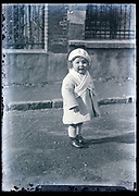 toddler standing outside France circa 1920s