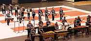 Dayton's Carroll High School competes at the Dayton Percussion Regional Finals, in the James Trent Arena, Sunday morning.