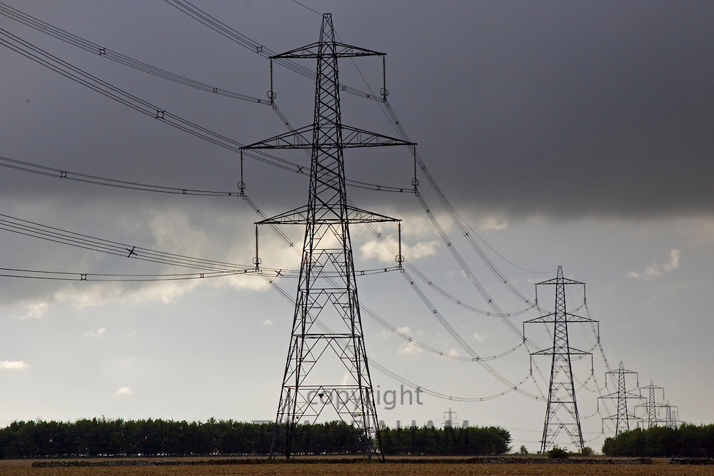 Electricity pylons in Cirencester, Gloucestershire, United Kingdom