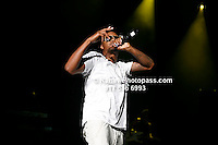Nas performing at Nikon at Jones Beach Amphitheater for 'Rock The Bells' 2008 on August 3, 2008. . Rock The Bells