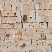 Orthodox Jew prays in the Westren wall an Important Jewish religious site located in the Old City of Jerusalem