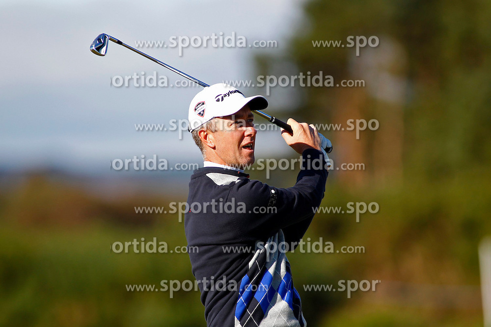 04.10.2012, Old Course, St. Andrews, SCO, European Golf Tour, Alfred Dunhill Links Championship, im Bild Mark Foster (ENG) // during the European Golf Tour, Alfred Dunhill Links Championship at the Old Course, St. Andrews, Scotland on 2012/10/04. EXPA Pictures © 2012, PhotoCredit: EXPA/ Mitchell Gunn