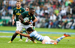 Durban. 180818. Tendai Mtawarira of South Africa  during the Rugby Championship match between South Africa and Argentina at Jonsson Kings Park in Durban, South Africa. Picture Leon Lestrade. African News Agency/ANA